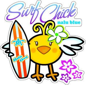 chick with surfboard