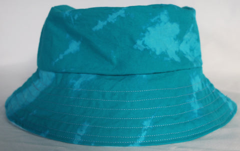Teal Marble Dyed Bucket Hat