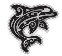tribal dolphin decal