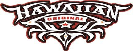 black and red hawaiian tribal decal
