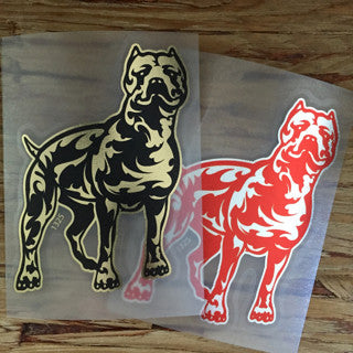 tribal pitbull decals