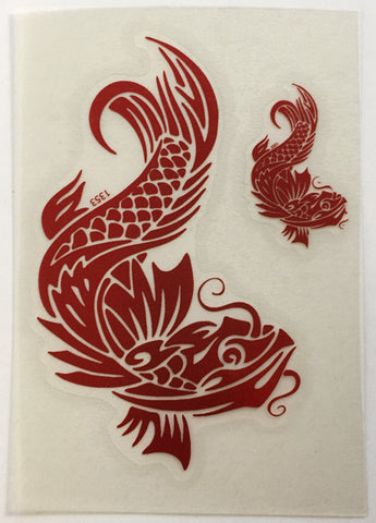 Tribal Koi Decal