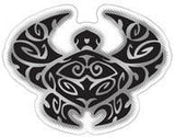 black and silver tribal turtle