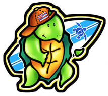 Surfer Honu Decal