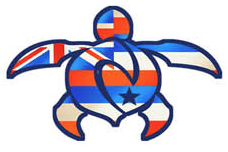 nalu blue hawaiian flag honu decal