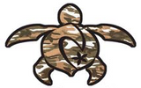 camoflage brown turtle decal