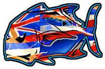 ulua hawaiian flag decal