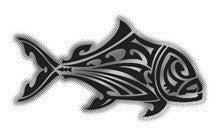 black and chrome ulua tribal decal