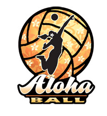 aloha ball volleyball decal