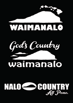 white waimanalo, god's country, nalo country decals