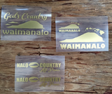 gold waimanalo decals