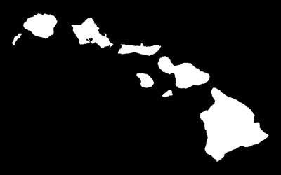white hawaiian islands decal