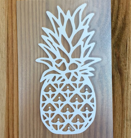 white fineapple decal