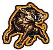 brown wild boar decal