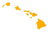 yellow hawaiian islands decal