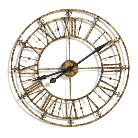 Chronos Medium Iron Skeleton Vintage Wall Clock Gold