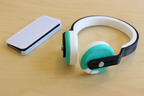 PLA-TPU iPhone case, assembled PETG-TPU-PLA-NinjaFlex headphone band