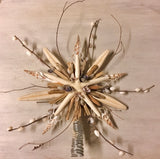 Floral Star Driftwood Tree Topper