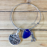 CA Seaglass Mermaid Charm Bracelet