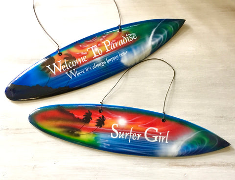 Airbrushed Surfboard Sign