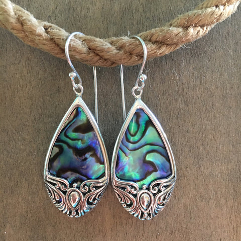 Abalone Butterfly Earrings