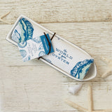 Oyster Dish and Towel Set