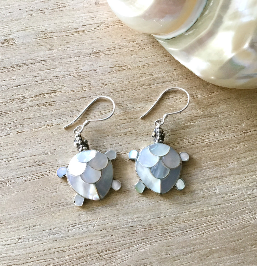 Sea Turtle MOP Earrings