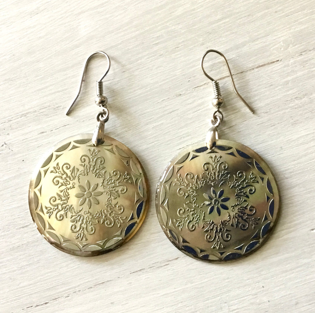 MOP Medallion Earrings