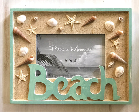 Beach Sand & Shells Photo Frame