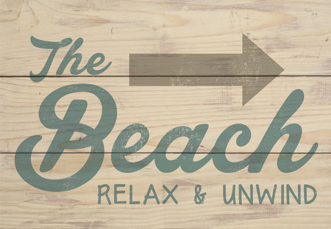 Beach Relax Wood Sign