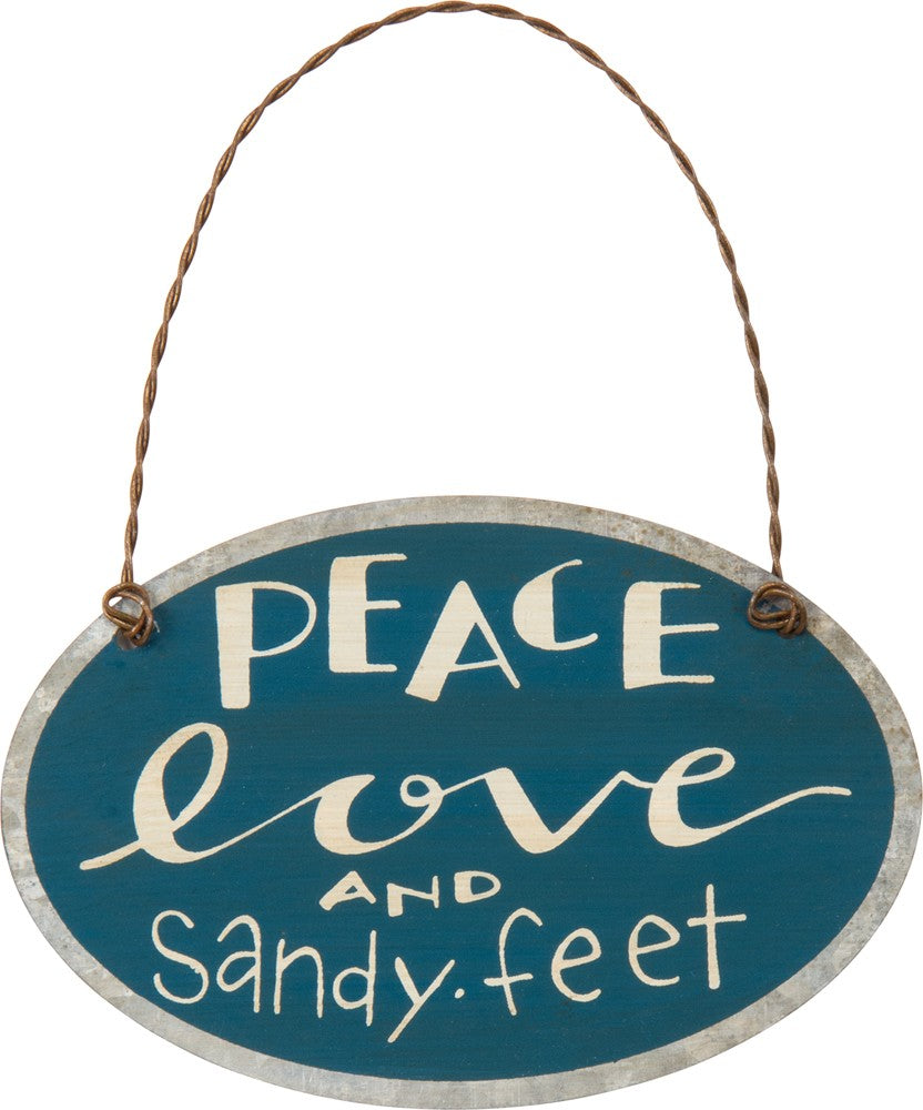 Sandy Feet Mini Sign