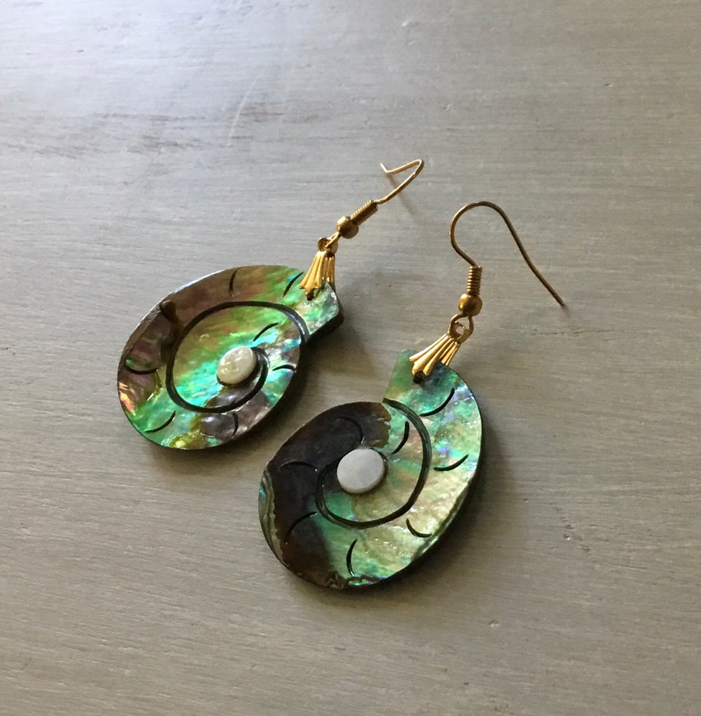 Abalone Nautilus Earrings