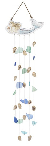 Mermaid Seaglass & Shells Windchime
