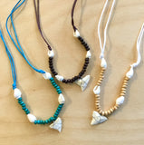Shark Tooth Bead Shell Necklace