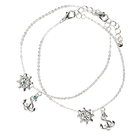 Dainty Ship Wheel Anchor Anklet