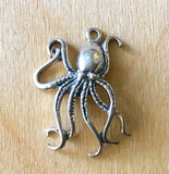 Stylized Octopus/ Large/ Silver