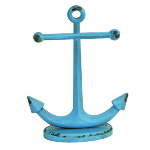 Blue Anchor Jewelry Holder
