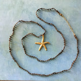 Golden Starfish Pyrite Necklace