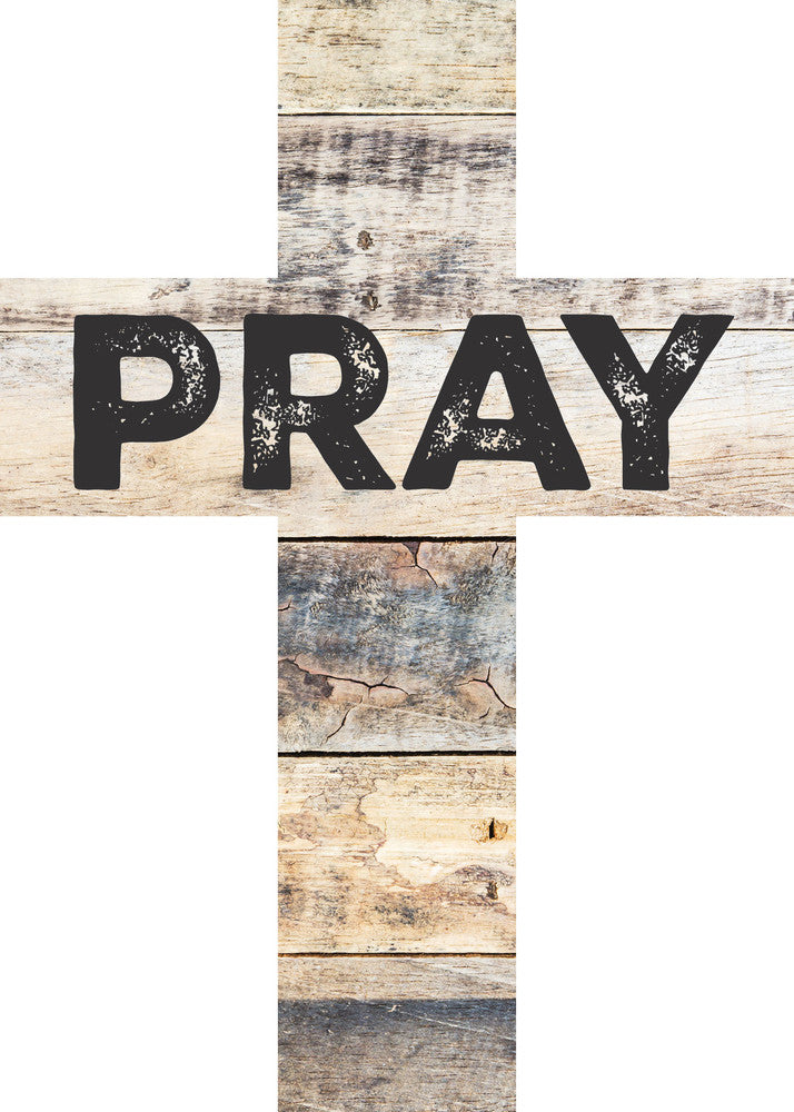 Pray Wood Cross Decor