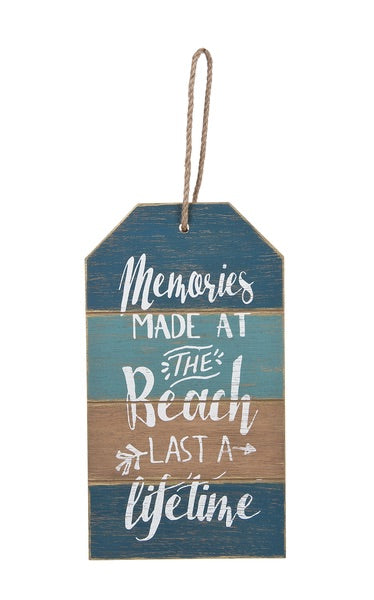 Memories at the Beach Sign