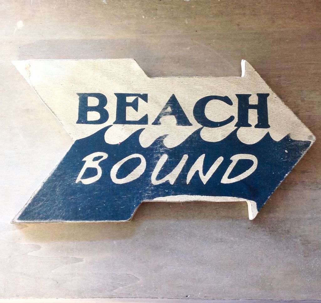 Beach Bound Arrow Sign