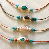 Colorful Cowrie Choker Necklace