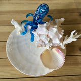 Blue Octopus Shell Ring Dish