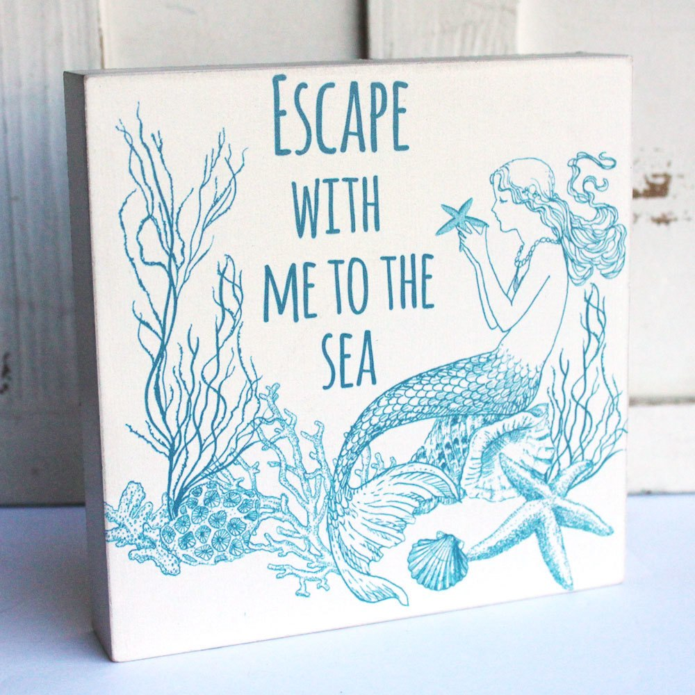 Escape with Me Mermaid Box Sign