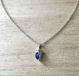 Abalone Dainty Dolphin Necklace