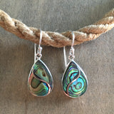 Wave Drop Abalone Earrings