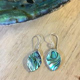 Abalone Design Top Leaf Earrings