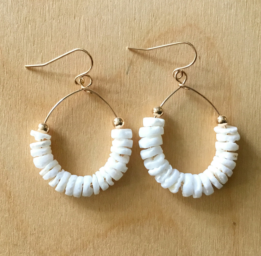Clamshell Hoop Earrings