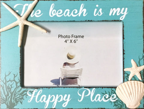 Happy Place Starfish Shell Frame