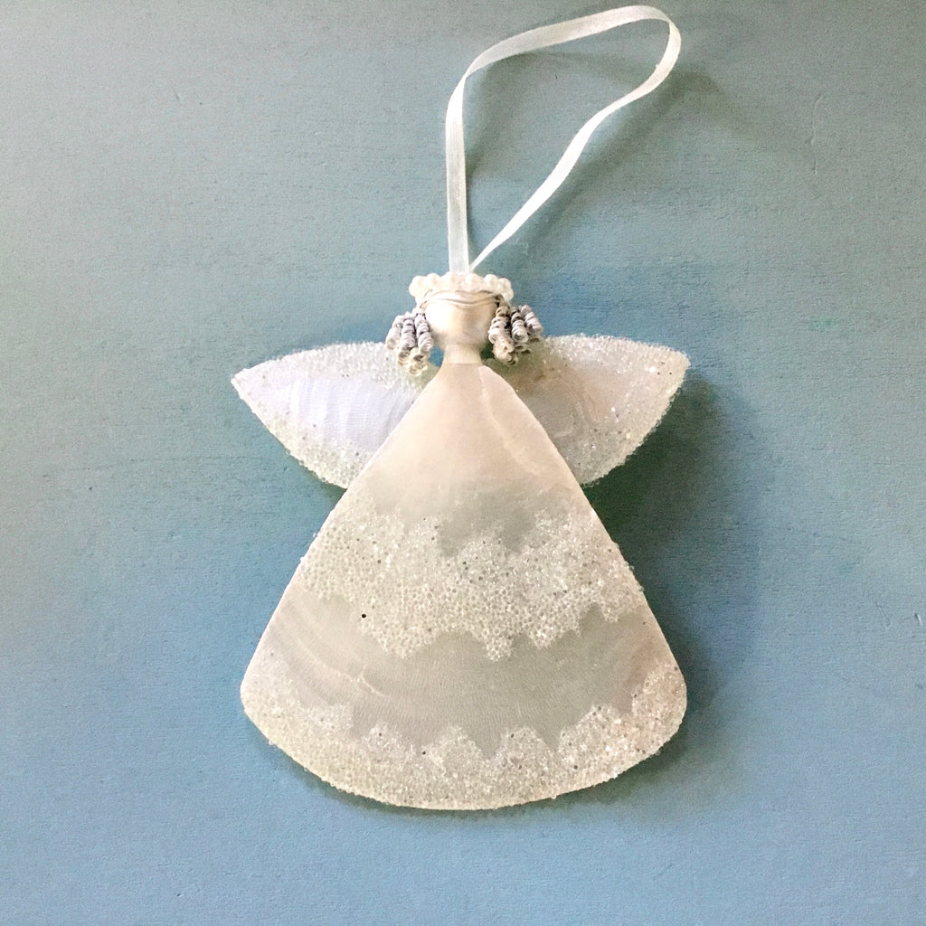 Simple Capiz Angel Ornament